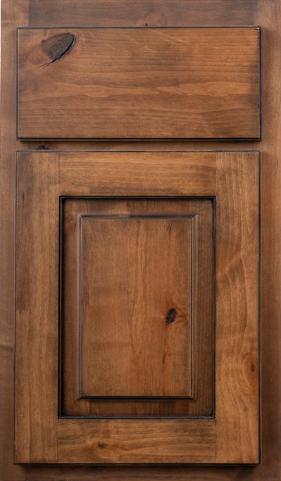 Door Knotty Alder Hickory Flat10 Full Black 101 R5 RA