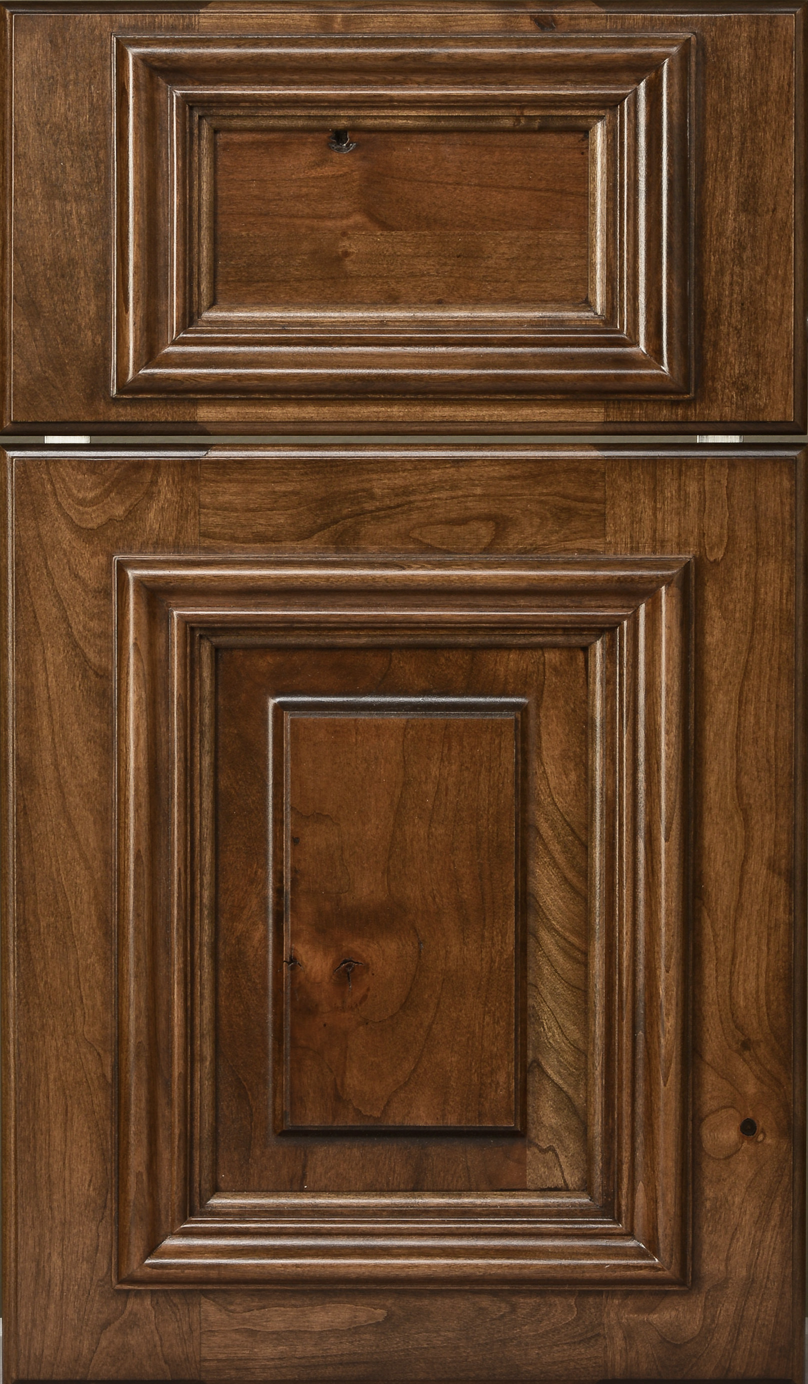 knotty cherry door mocha stain